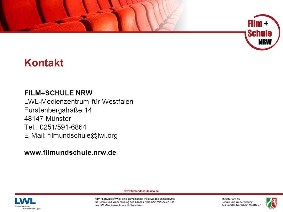 Kontakt FILM+SCHULE NRW LWL-Medienzentrum für Westfalen