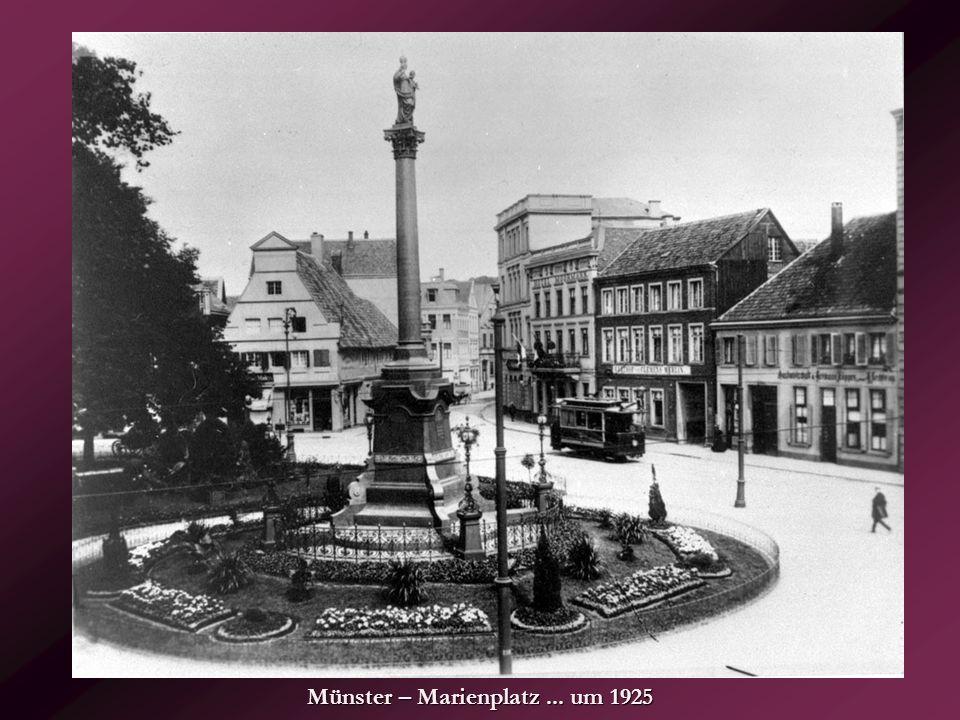 Münster – Marienplatz ... um 1925