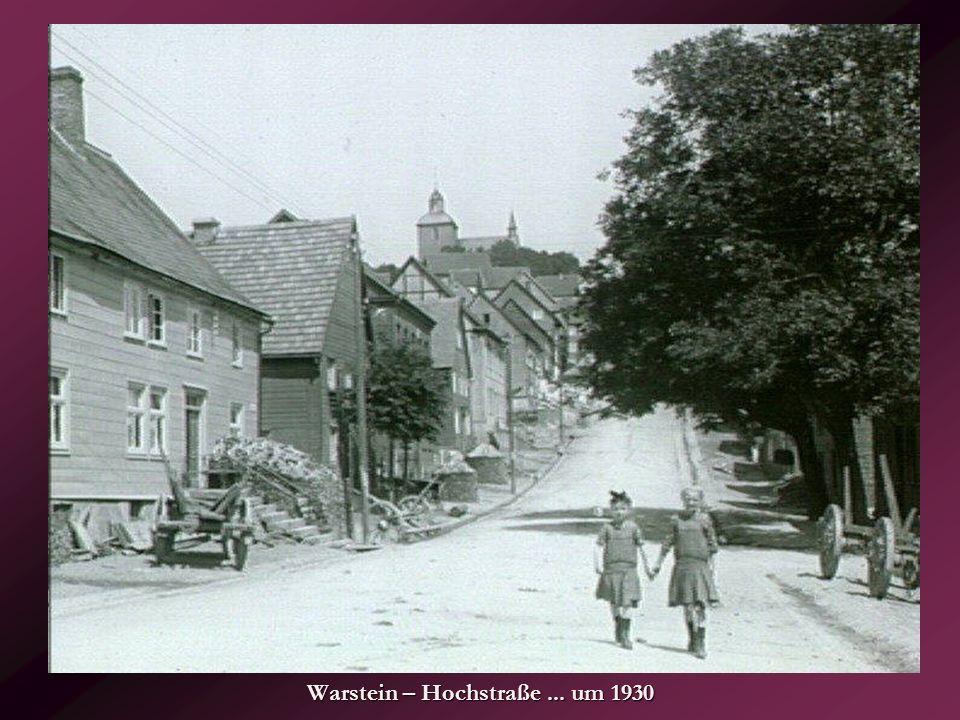 Warstein – Hochstraße ... um 1930