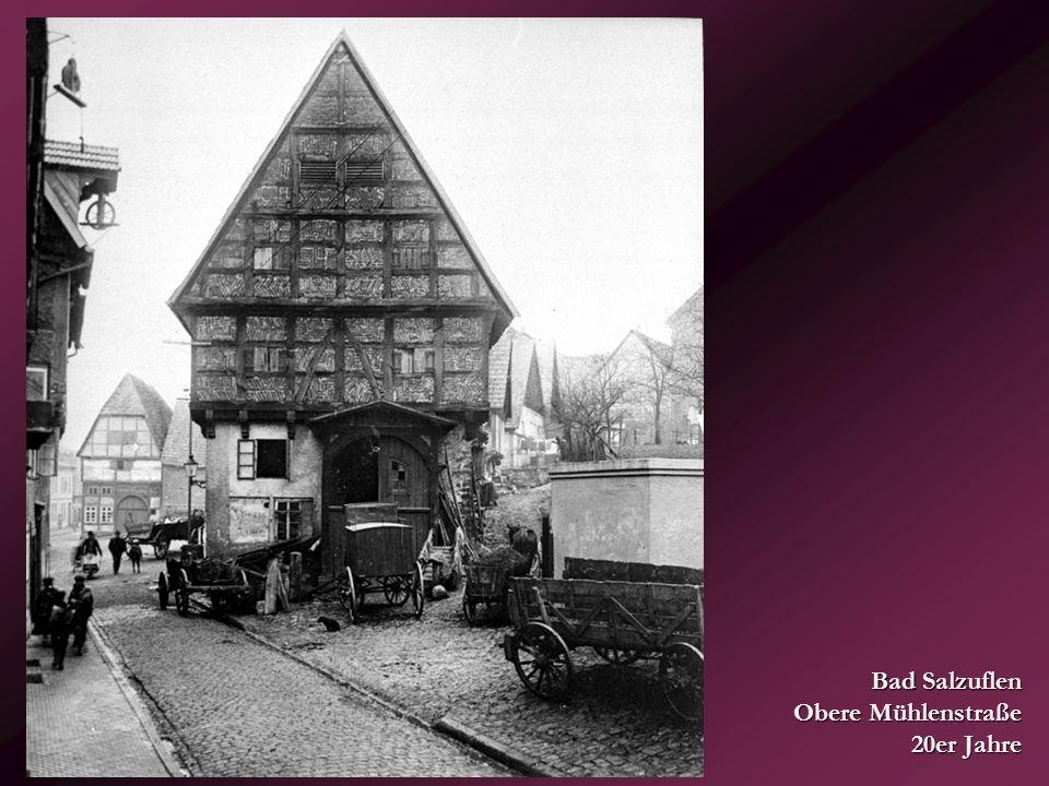 Bad Salzuflen Obere Mühlenstraße 20er Jahre