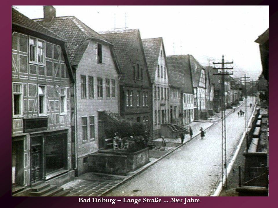 Bad Driburg – Lange Straße ... 30er Jahre