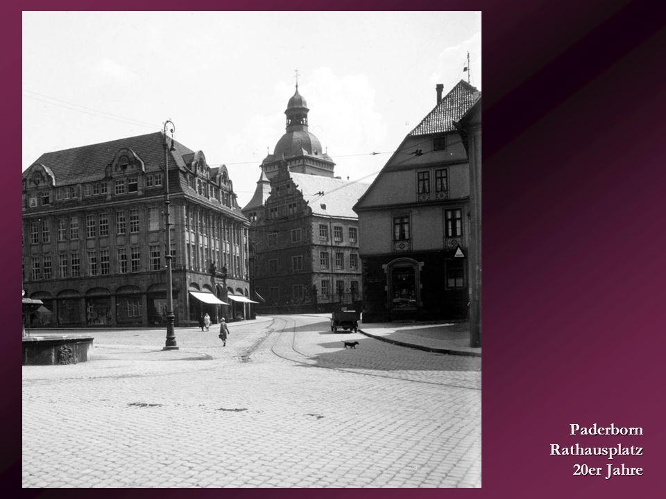 Paderborn Rathausplatz 20er Jahre