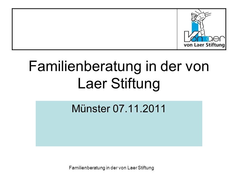 Familienberatung in der von Laer Stiftung
