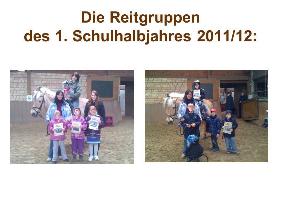 Die Reitgruppen des 1. Schulhalbjahres 2011/12: