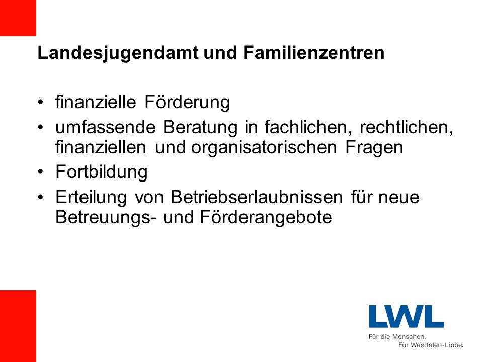 Landesjugendamt und Familienzentren