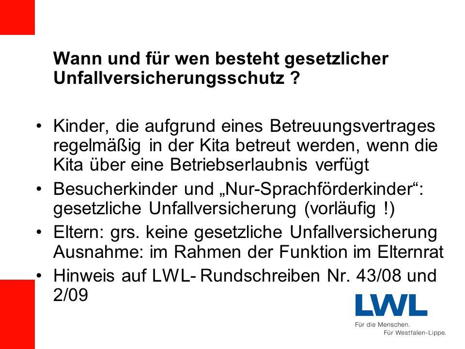 Hinweis auf LWL- Rundschreiben Nr. 43/08 und 2/09