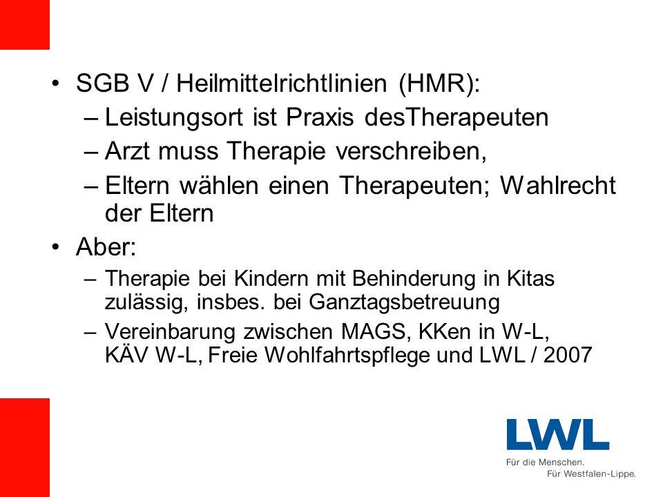 SGB V / Heilmittelrichtlinien (HMR):