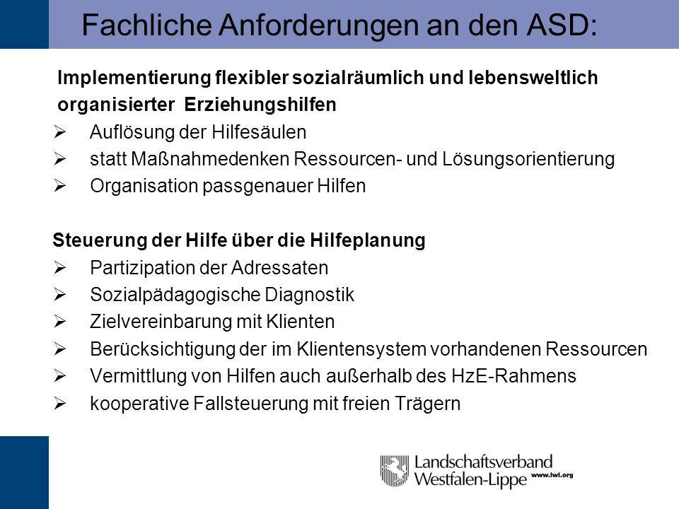 Fachliche Anforderungen an den ASD: