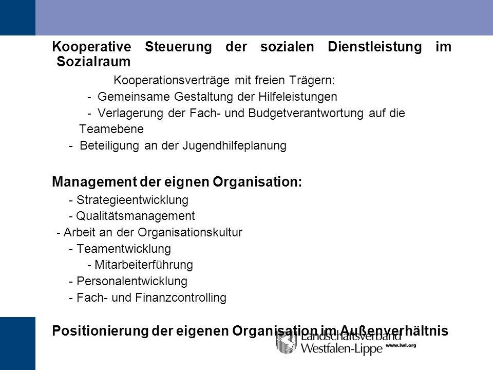 Kooperationsverträge mit freien Trägern: