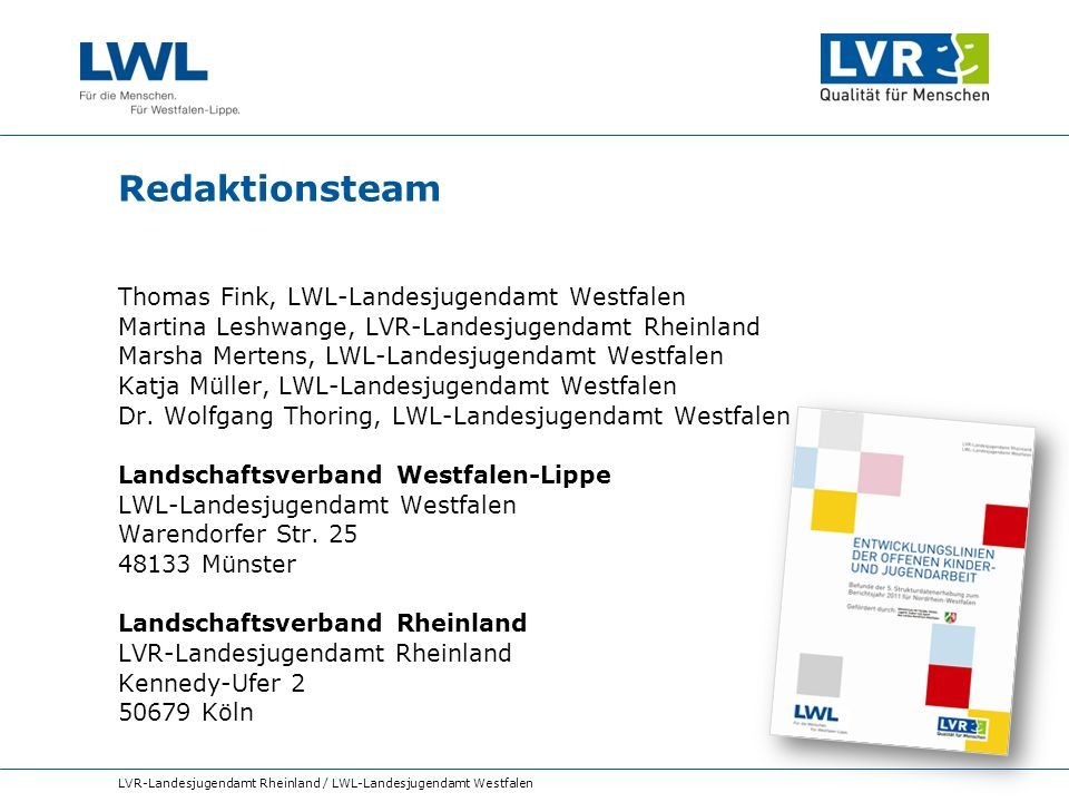 Redaktionsteam Thomas Fink, LWL-Landesjugendamt Westfalen