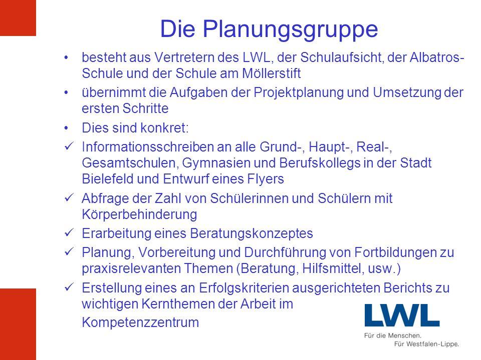 Die Planungsgruppe besteht aus Vertretern des LWL, der Schulaufsicht, der Albatros-Schule und der Schule am Möllerstift.