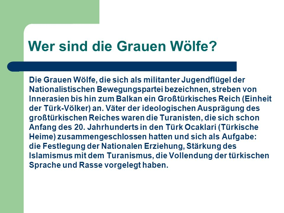 Wer sind die Grauen Wölfe