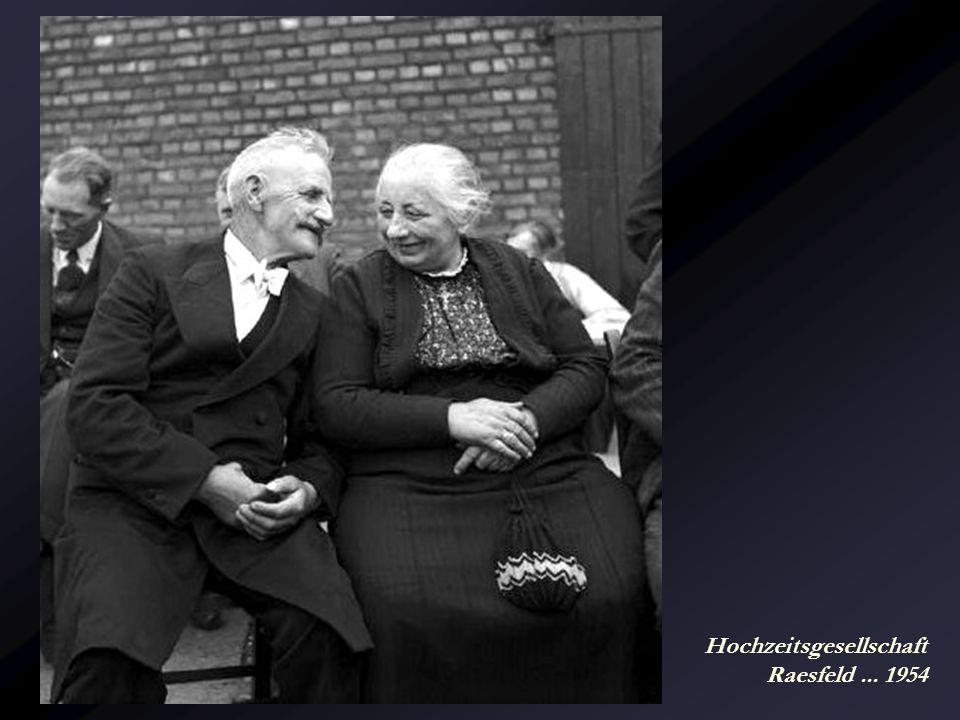 Hochzeitsgesellschaft Raesfeld ... 1954