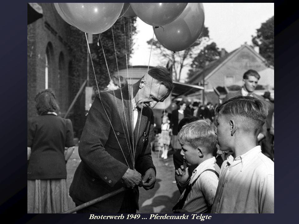 Broterwerb 1949 ... Pferdemarkt Telgte