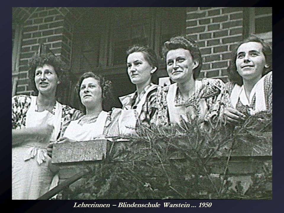 Lehrerinnen – Blindenschule Warstein ... 1950