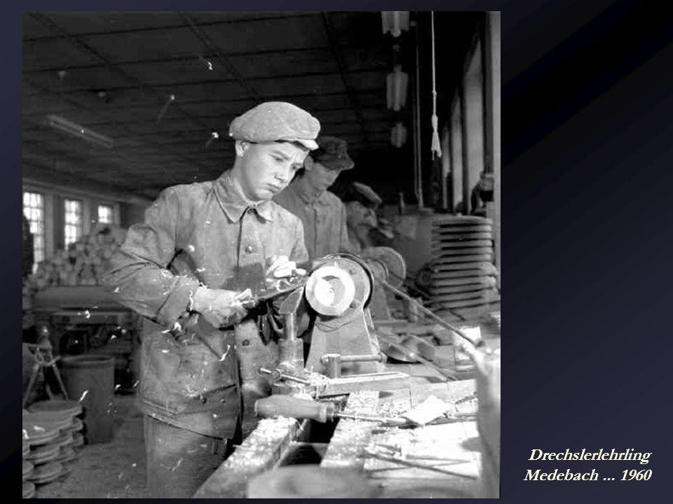 Drechslerlehrling Medebach ... 1960