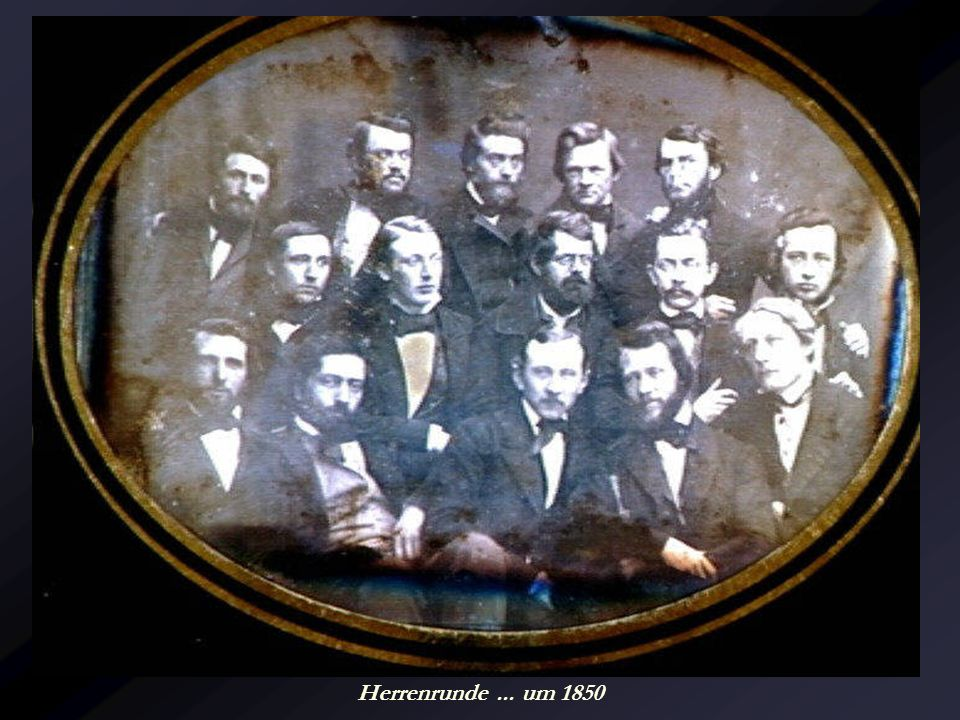 Herrenrunde ... um 1850