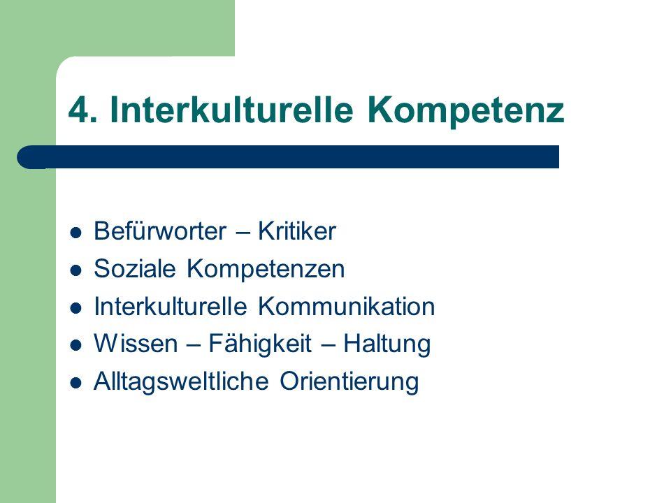 4. Interkulturelle Kompetenz