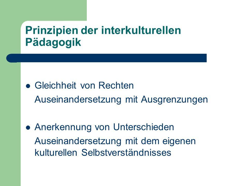 Prinzipien der interkulturellen Pädagogik