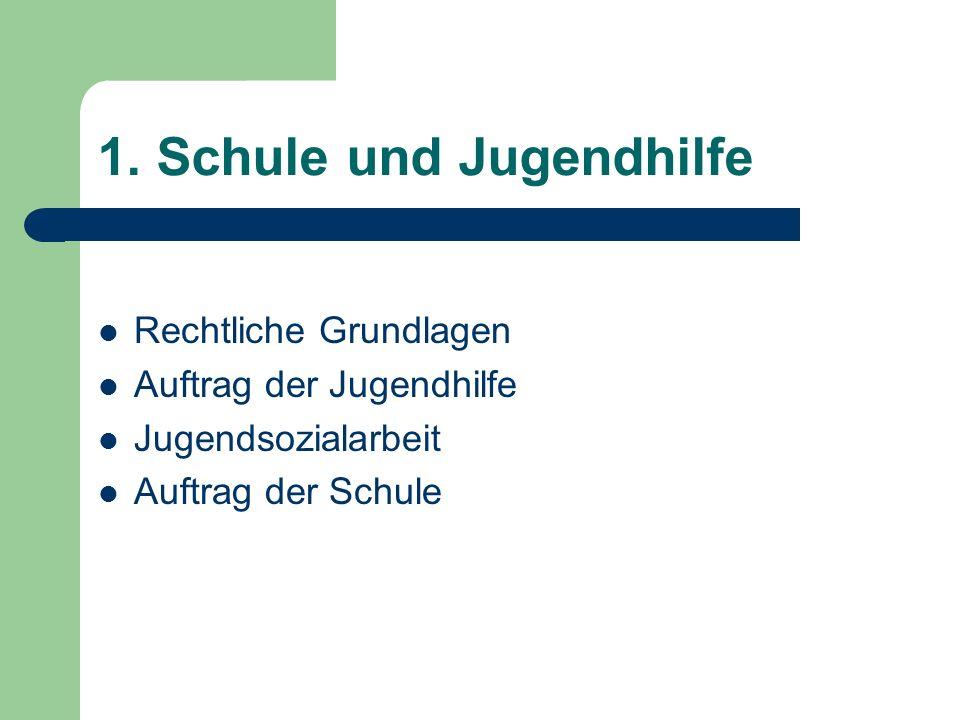 1. Schule und Jugendhilfe