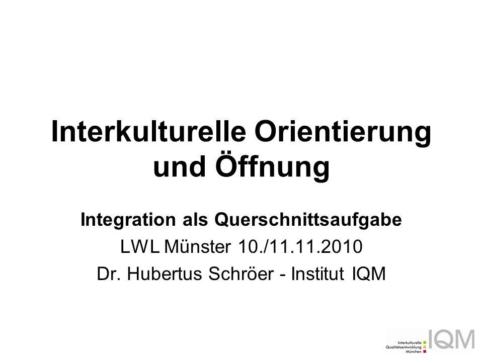 Interkulturelle Orientierung und Öffnung
