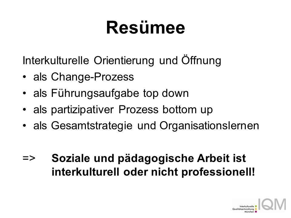 Resümee Interkulturelle Orientierung und Öffnung als Change-Prozess