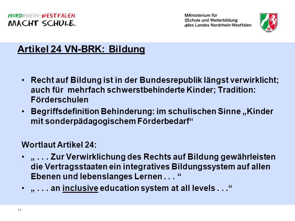 Artikel 24 VN-BRK: Bildung