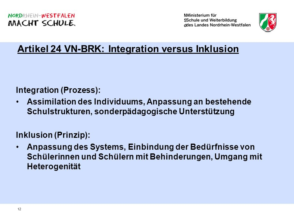 Artikel 24 VN-BRK: Integration versus Inklusion