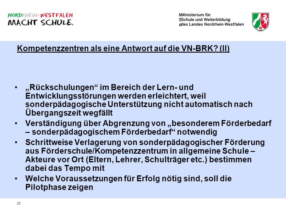 Kompetenzzentren als eine Antwort auf die VN-BRK (II)