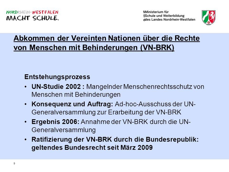 Abkommen der Vereinten Nationen über die Rechte von Menschen mit Behinderungen (VN-BRK)