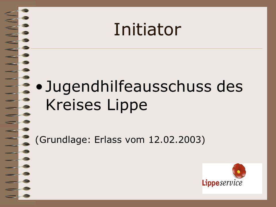 Initiator Jugendhilfeausschuss des Kreises Lippe