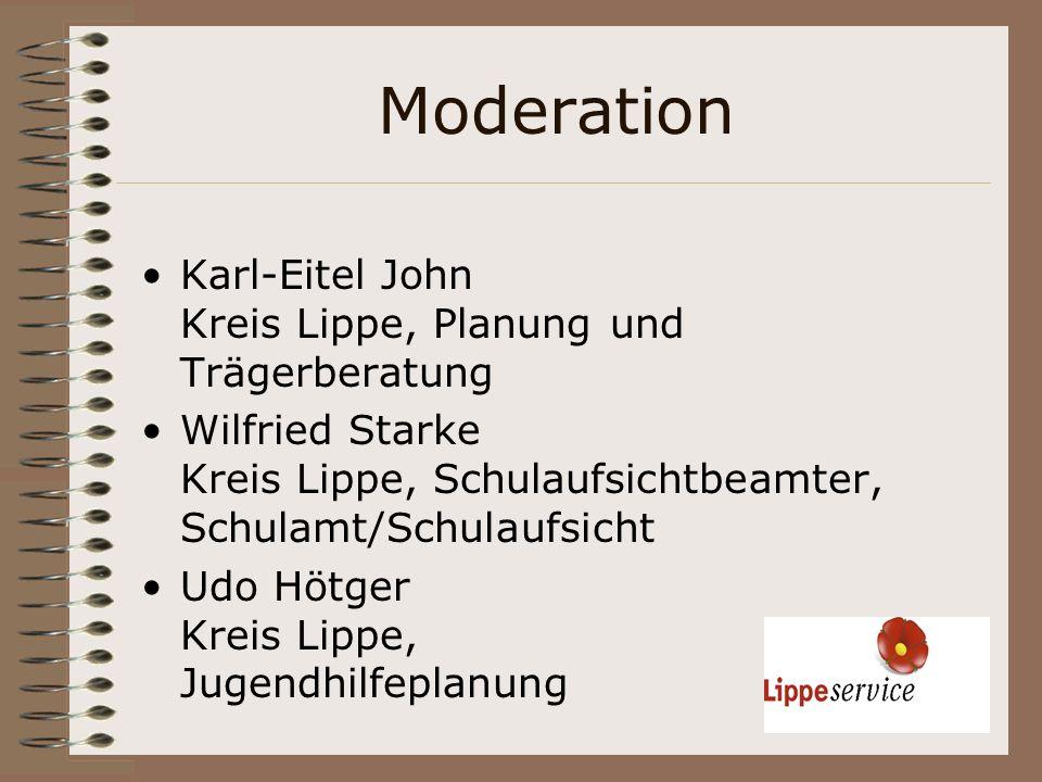 Moderation Karl-Eitel John Kreis Lippe, Planung und Trägerberatung