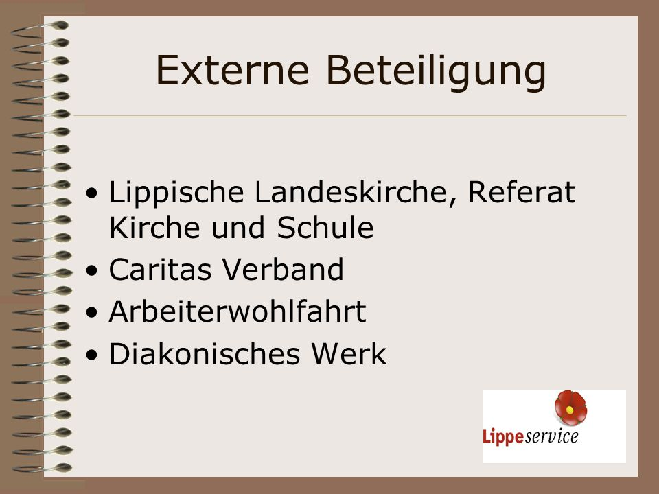 Externe Beteiligung Lippische Landeskirche, Referat Kirche und Schule