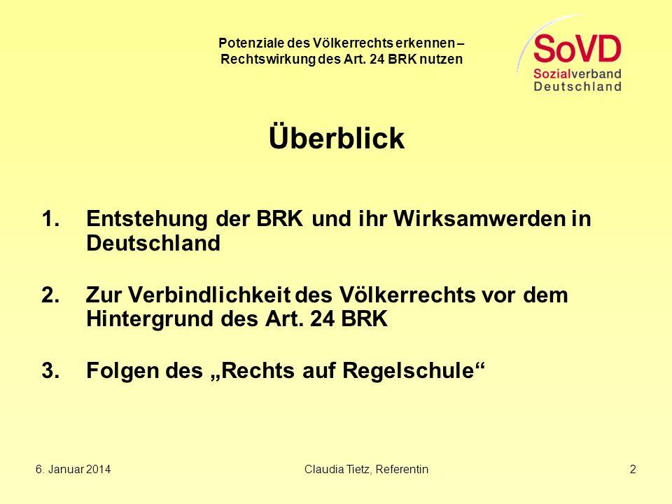 Überblick Entstehung der BRK und ihr Wirksamwerden in Deutschland