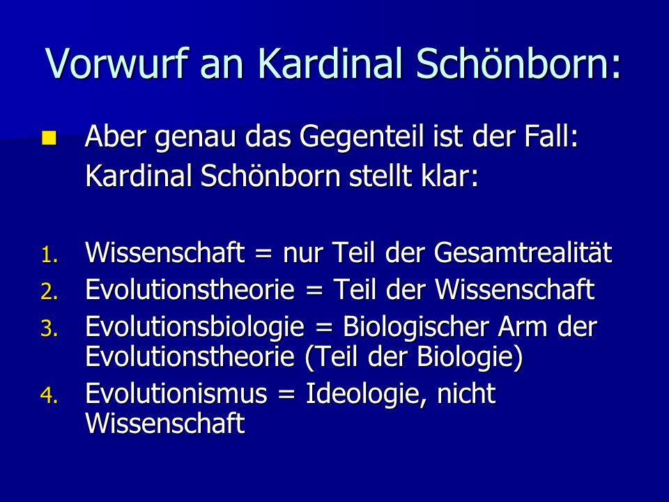 Vorwurf an Kardinal Schönborn: