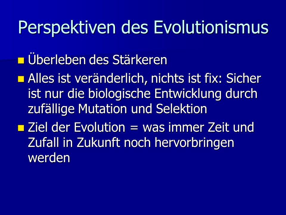 Perspektiven des Evolutionismus