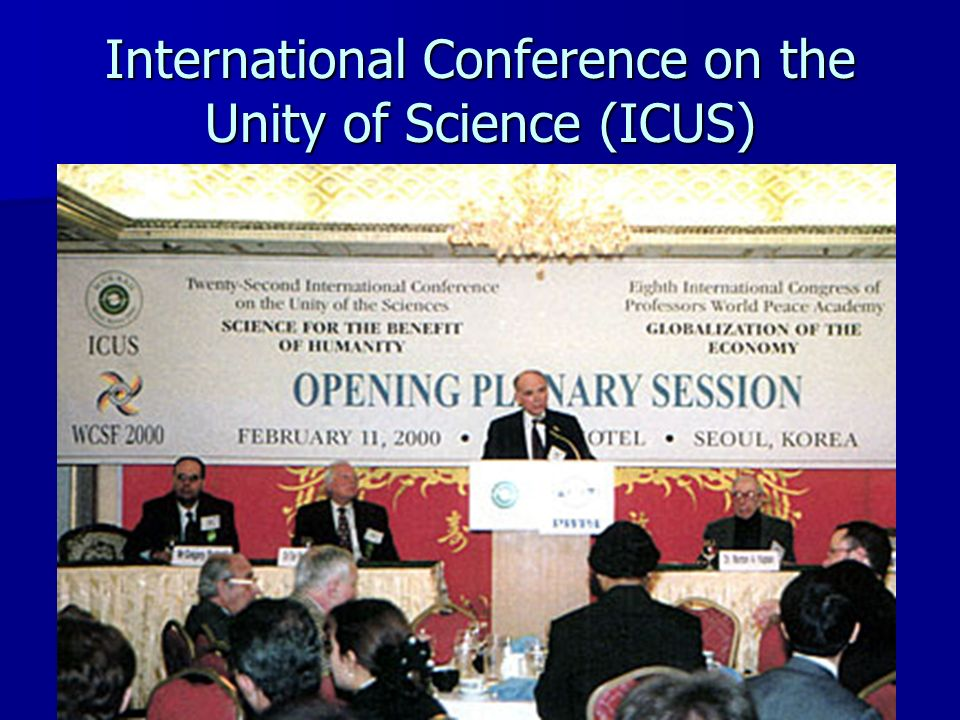 International Conference on the Unity of Science (ICUS)