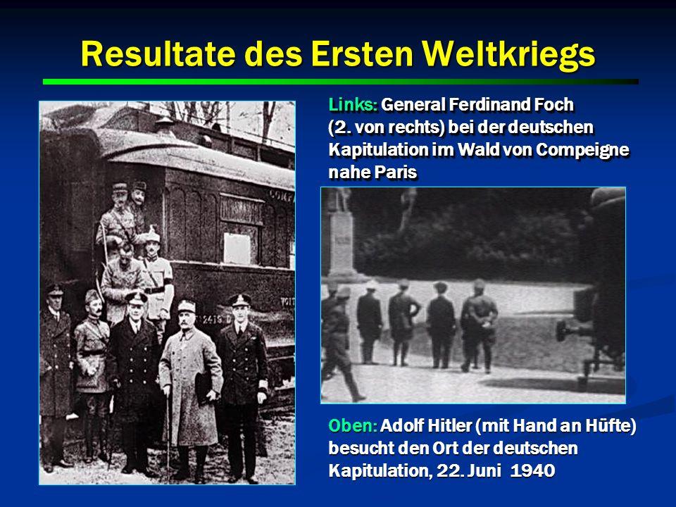 Resultate des Ersten Weltkriegs