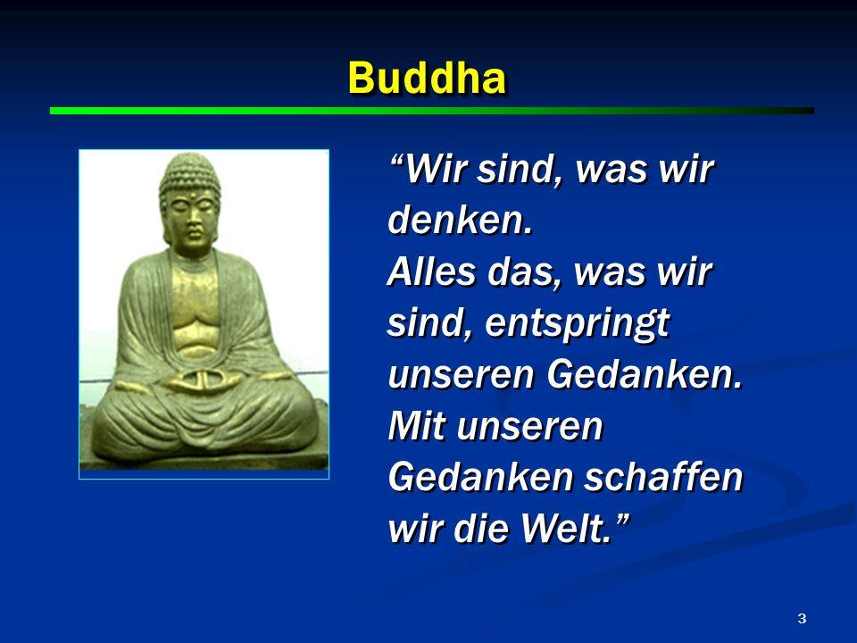 Buddha Wir sind, was wir denken.