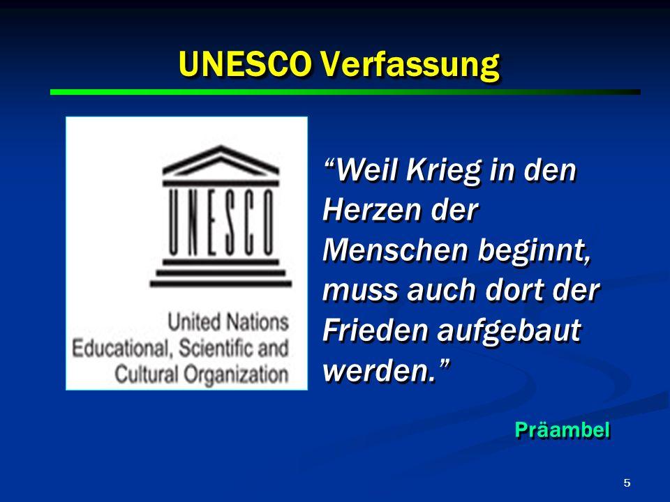 UNESCO Verfassung Weil Krieg in den Herzen der Menschen beginnt,