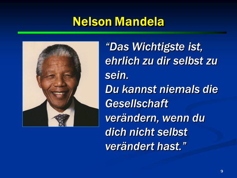 Nelson Mandela Das Wichtigste ist, ehrlich zu dir selbst zu sein.