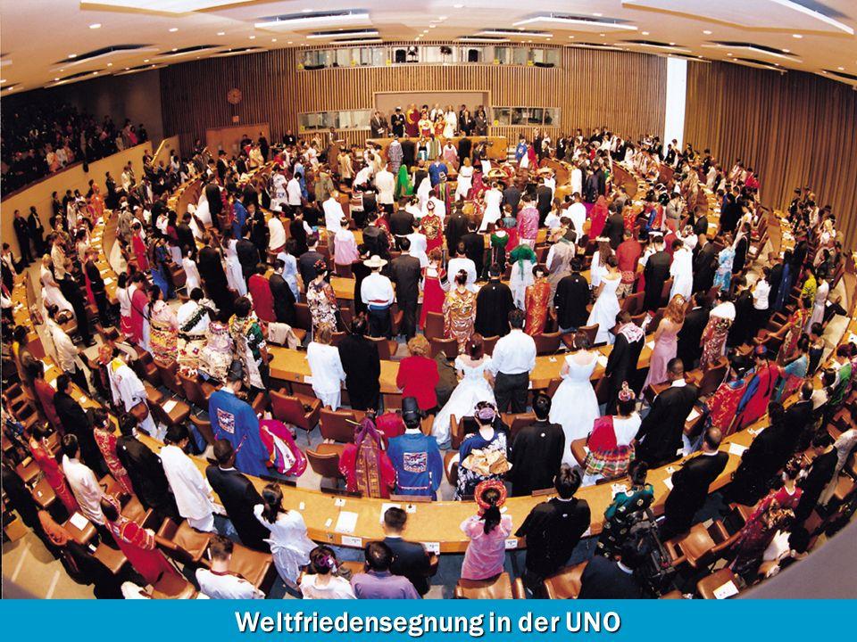 Weltfriedensegnung in der UNO