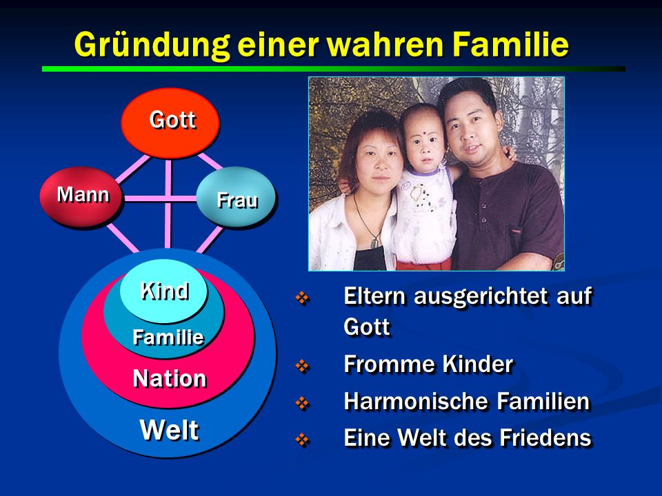 Gründung einer wahren Familie