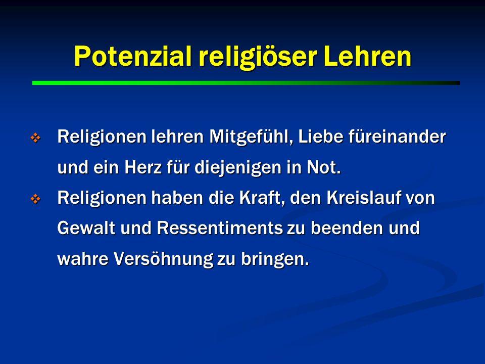 Potenzial religiöser Lehren