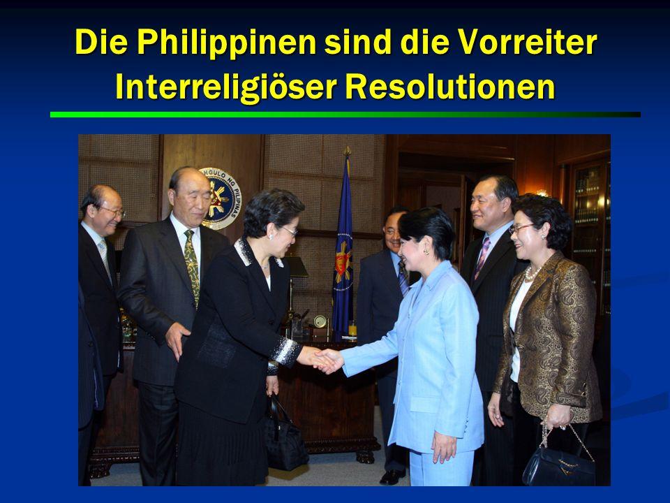 Die Philippinen sind die Vorreiter Interreligiöser Resolutionen