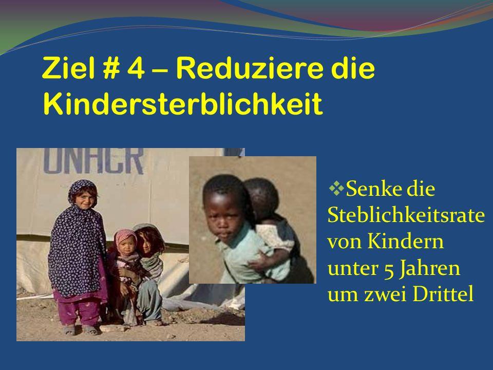 Ziel # 4 – Reduziere die Kindersterblichkeit
