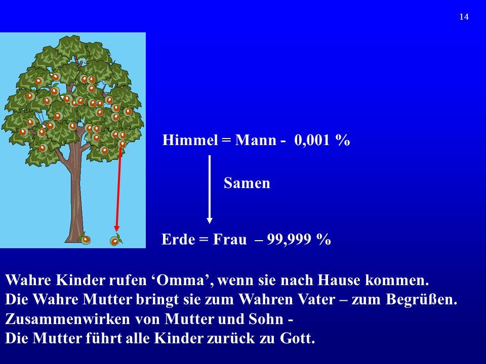 Wahre Kinder rufen 'Omma', wenn sie nach Hause kommen.