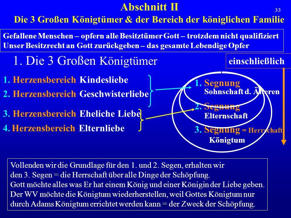 Abschnitt II Die 3 Großen Königtümer & der Bereich der königlichen Familie
