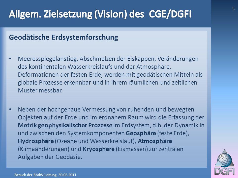 Allgem. Zielsetzung (Vision) des CGE/DGFI