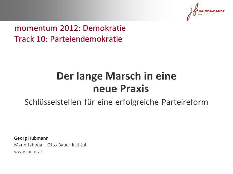 momentum 2012: Demokratie Track 10: Parteiendemokratie